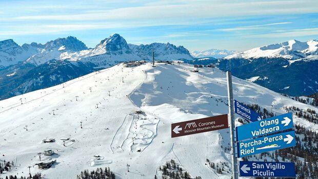 Der Kronplatz ist eines der schönsten Skigebiete Südtirols.