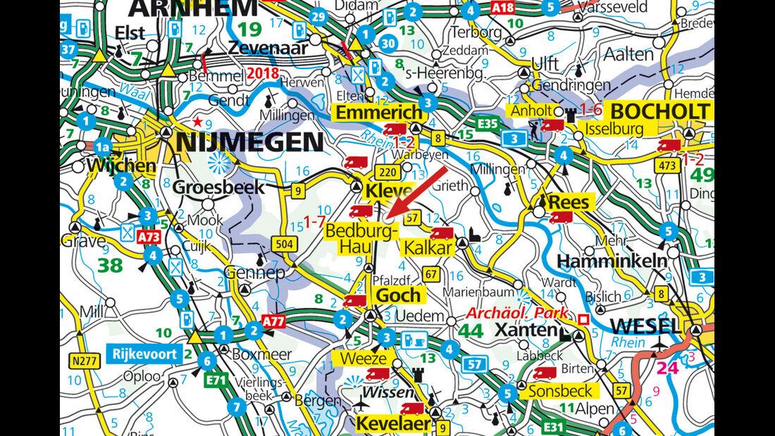 Stellplatz-Tipp: Bedburg, Karte