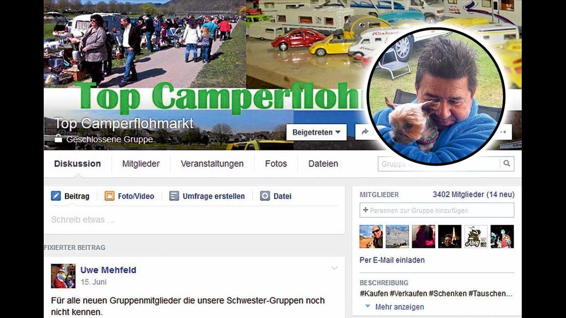 """Top Camperflohmarkt"" ist perfekt zum Stöbern."
