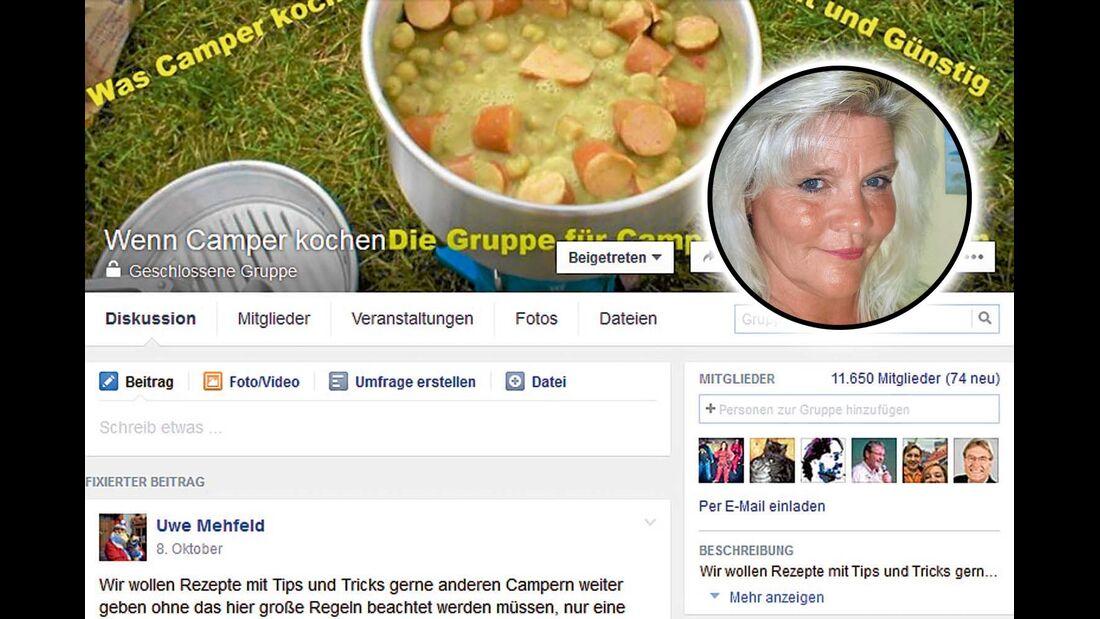"""""""Wenn Camper kochen"""" ist eine Gruppe für alle Hobbyköche, die Rezepte mit anderen teilen möchten."""