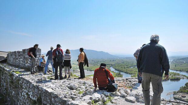 1479 nach langer Belagerung von den Osmanen eingenommen: Burg Rozafa auf einem Hügel bei Shkoder.