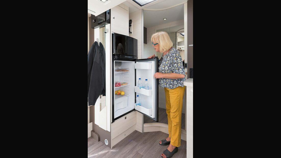 175-Liter-Kühlschrank gut zugänglich im Chausson Welcome 620