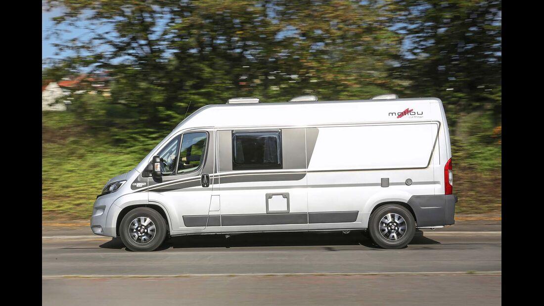 """3,5-t-Chassis und 16""""-Aluräder sind in Sachen Zuladung, Optik und Fahrkomfort ein Gewinn beim Malibu Van 600 LE"""
