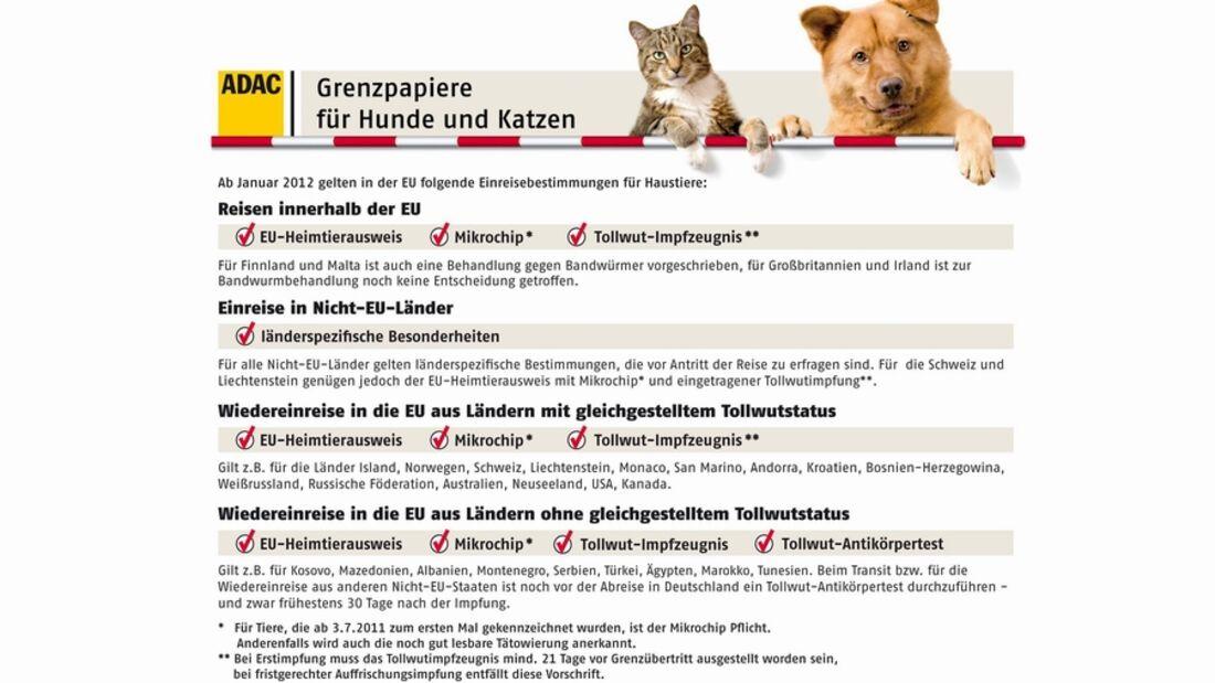 Ab Januar 2012 soll das Reisen mit Haustieren in der EU einfacher werden