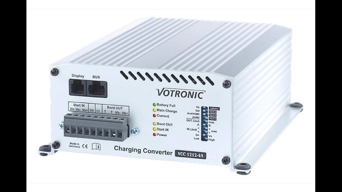 Abhilfe versprechen Booster/Ladewandler wie der neue Votronic VCC 1212-45.
