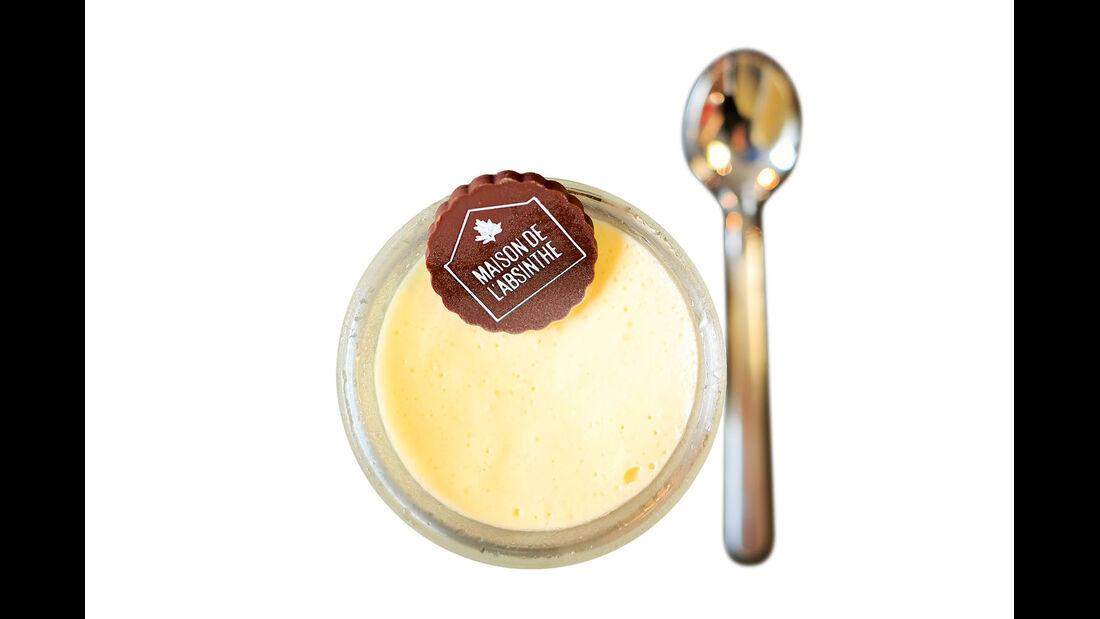 Absinth, hier als Dessert.
