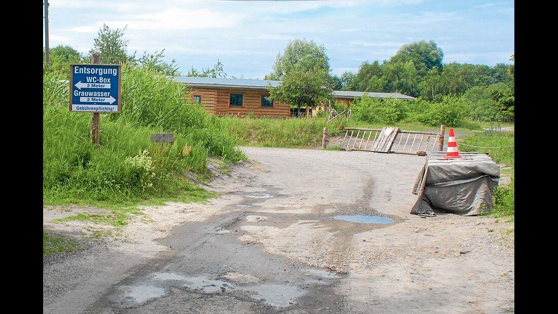 Abwasserversorgung auf dem Stelplatz Peenemünde