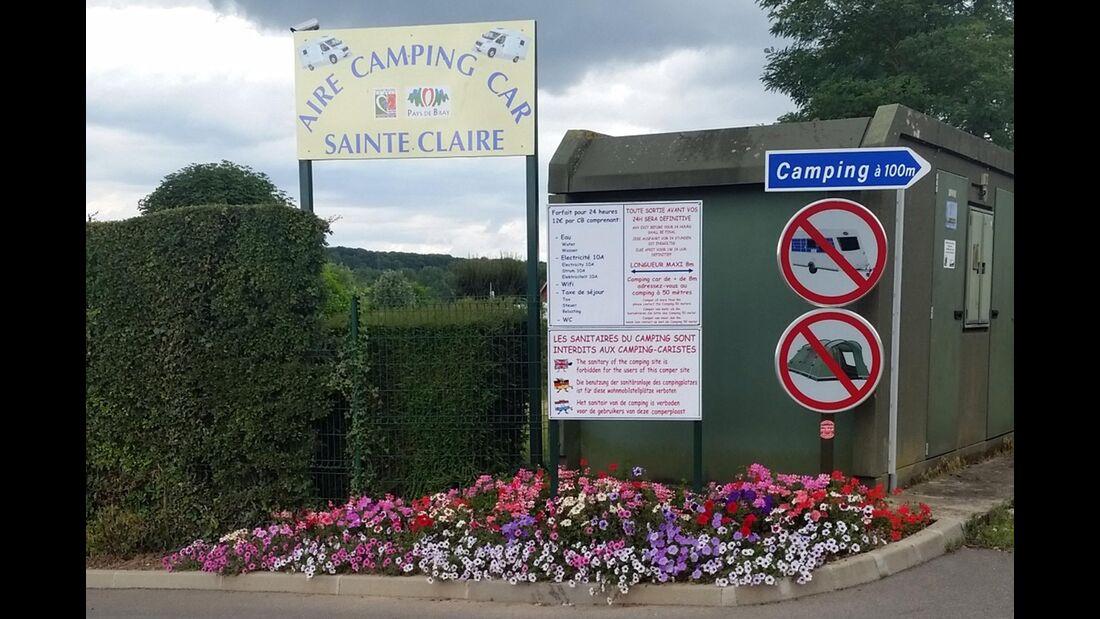 Aire Camping-car Sainte Claire