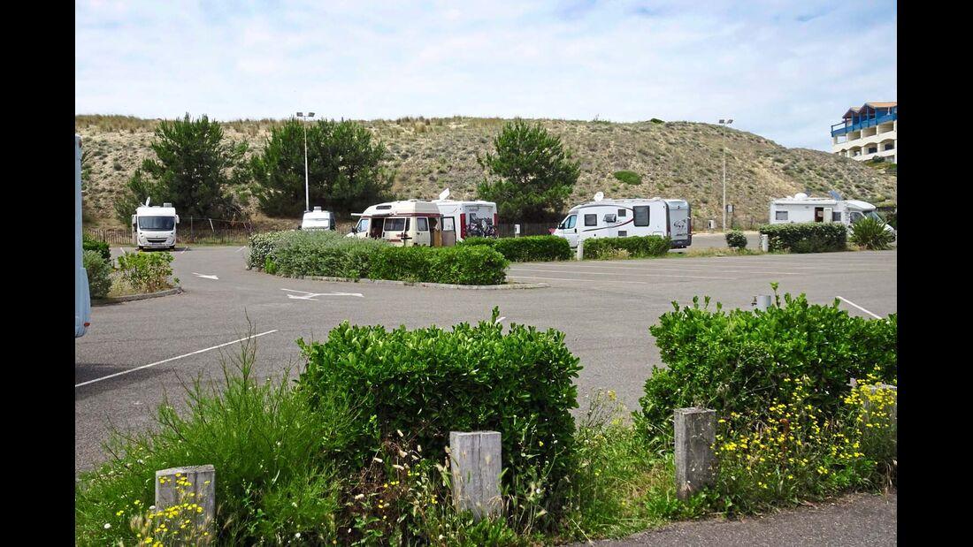 Aire de stationnement de camping-cars in Mimizan-Plage