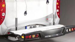 Alko zeigt auf dem Caravan Salon den Lastenträger backpack 150, der am Chassis befestigt 150 Kilogramm Nutzlast aufnimmt.