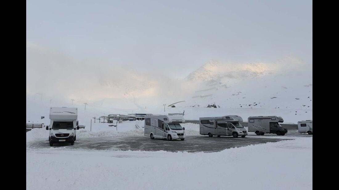 Alkoven, Wintertest