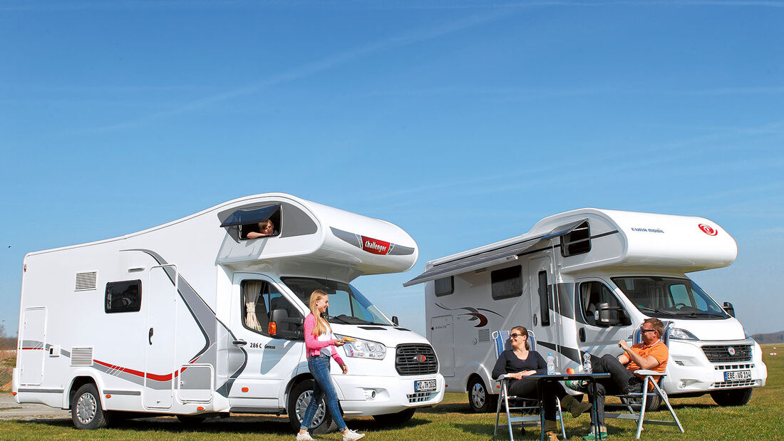 Alkovenmobile Challenger Genesis und Eura Mobil Activa One