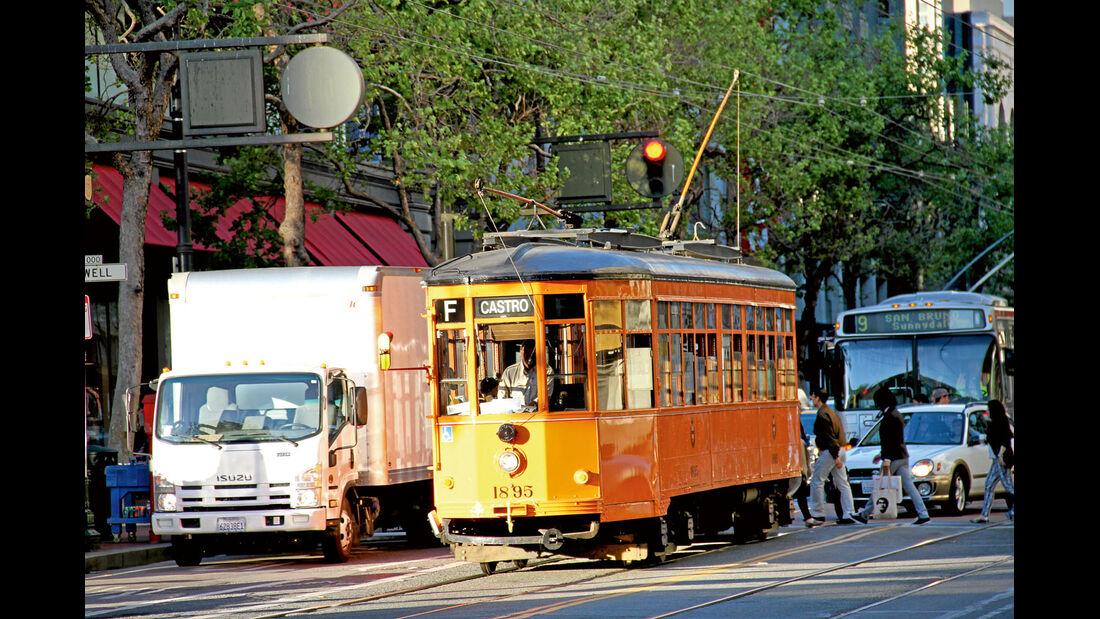 Alte Tram von San Francisco.