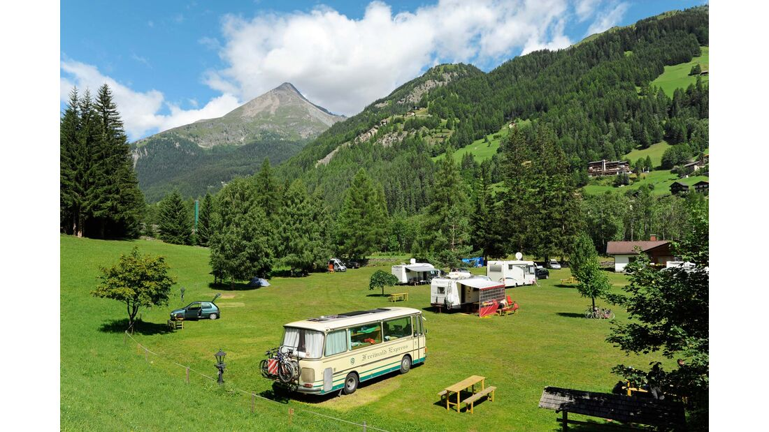 Am Fuß des Großglockners liegt der Nationalpark-Campingplatz.