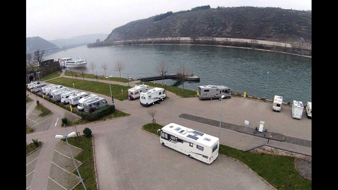 Am Rheinufer in Andernach