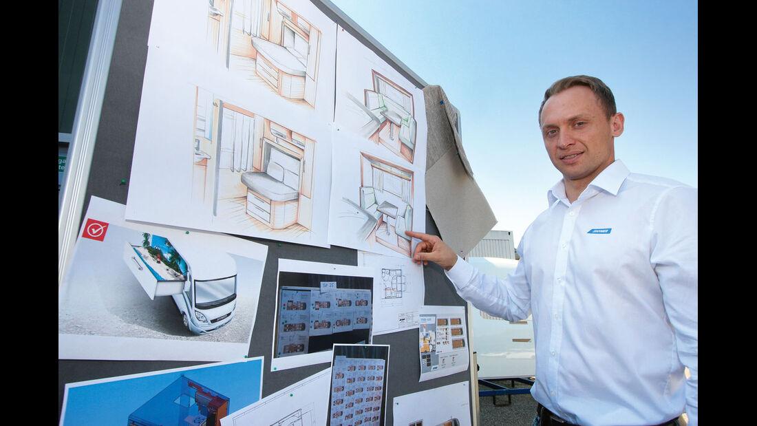 Andreas Ortlieb vom Hymer-Produktmarketing