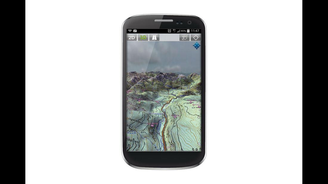 App für Outdoor-Navigation