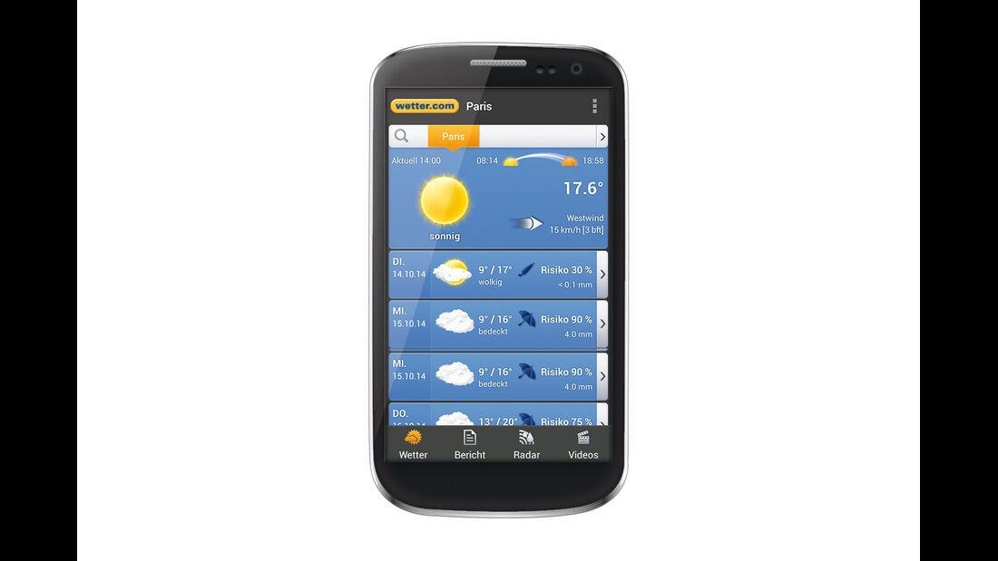 App für Wetter-Vorhersagen