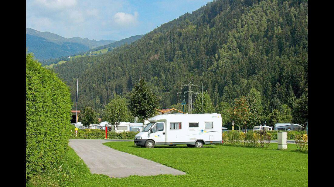 Aschau: Übernachtungsplatz vor dem Camping Aufenfeld.