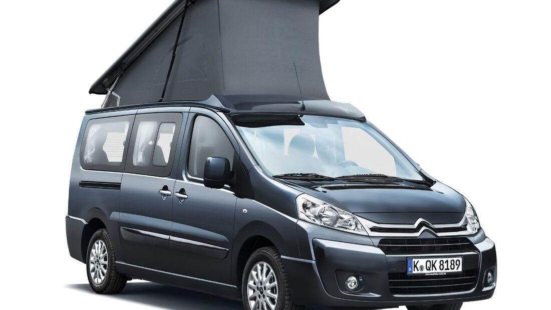 Auf Basis des Citroën Jumper und Jumpy zeigen zahlreiche Umbauhersteller in Halle 12 des Caravan Salons ihre Freizeitmobile.