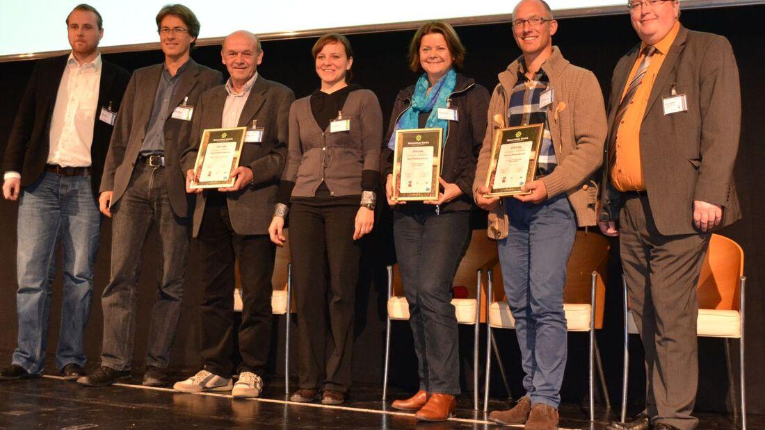 Auf dem Bayerischen Campingtag erhielten drei Campingplätze eine Urkunde für die erfolgreiche Qualifizierung zum Naturerlebnisbetrieb.
