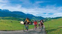 Auf ländlichen Wegen kann man mit dem Rad das Appenzellerland erkunden.