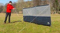 Aufbau Windschutz