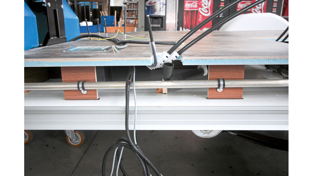 Aufbautechnik: Doppelboden