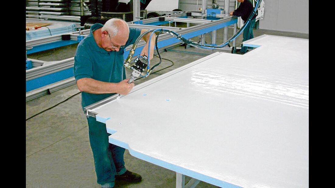 Aufbautechnik: Sandwichplatten