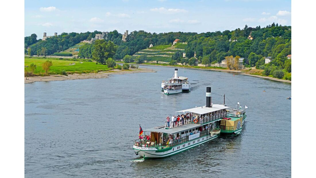 Ausflugsdampfer bei Dresden