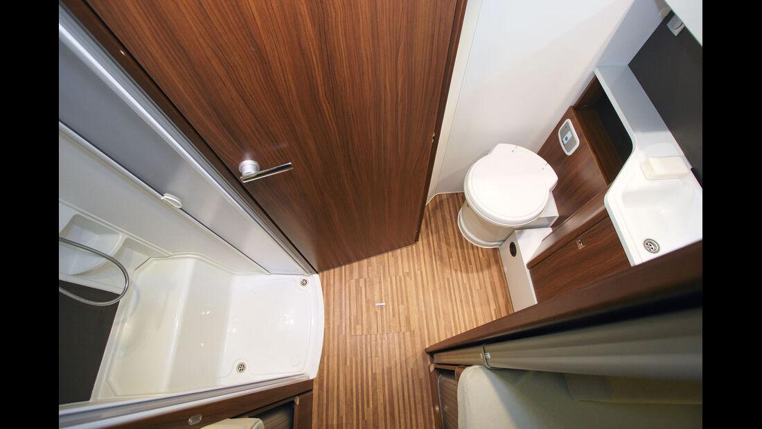 Bad und Dusche lassen sich zu einem ansehnlichen Raumbad verbinden.