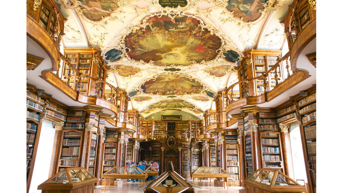 Barocksaal in Stiftsbibliothek in St. Gallen