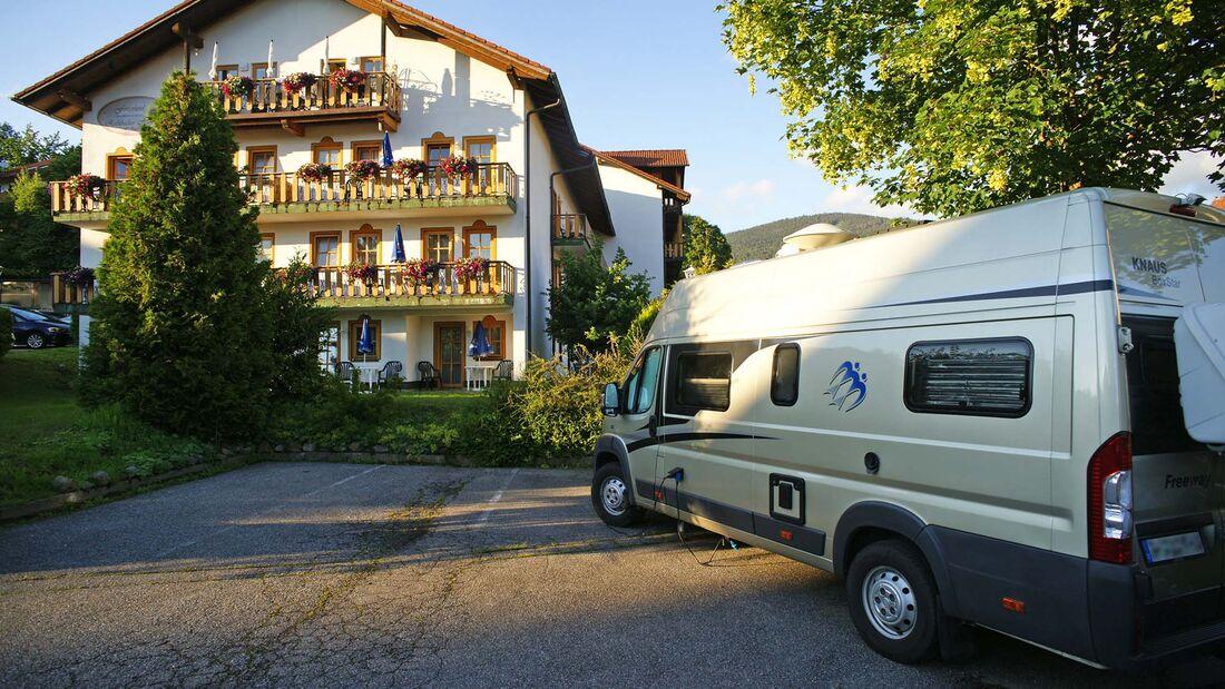 Bayerische Wälder, Camping