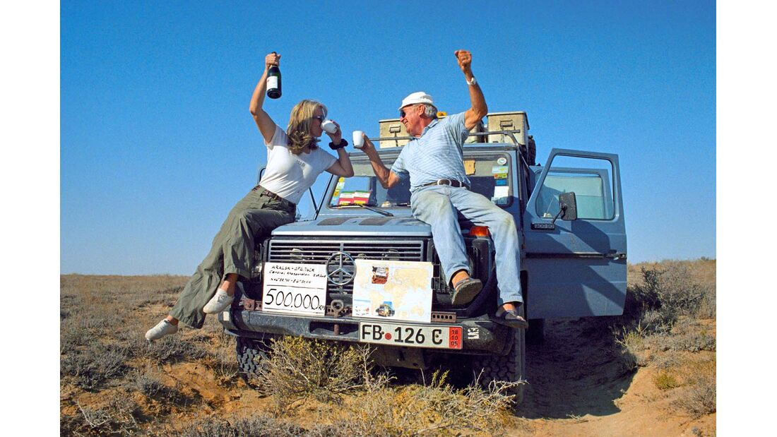 Bei 500 000 Kilometern lassen die Holtorfs die Korken knallen