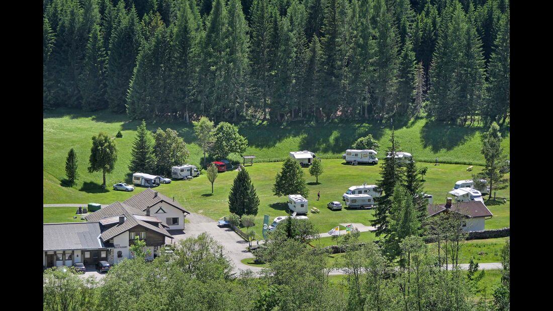 Bei Heiligenblut: Blick auf den Nationalpark-Camping Großglockner.