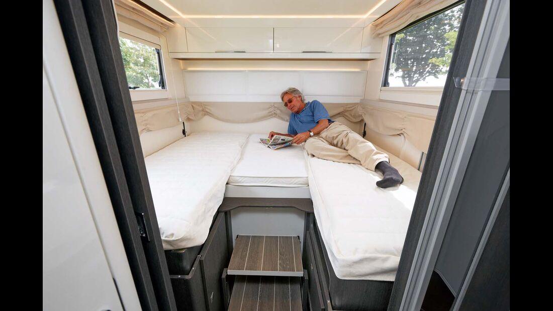 Bei komplett abgesenkten Betten ist der Raumeindruck besonders großzügig