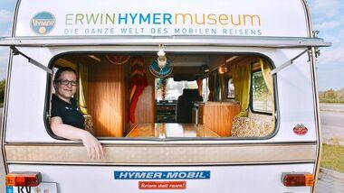 Beim Hymermobil 520D prägte Mitte der 70er Jahre erstmals ein einheitliches Erscheinungsbild die gesamte Baureihe.