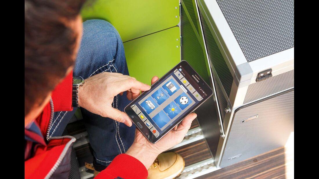 Bequeme Sache – Bordtechniksteuerung per Tablet.