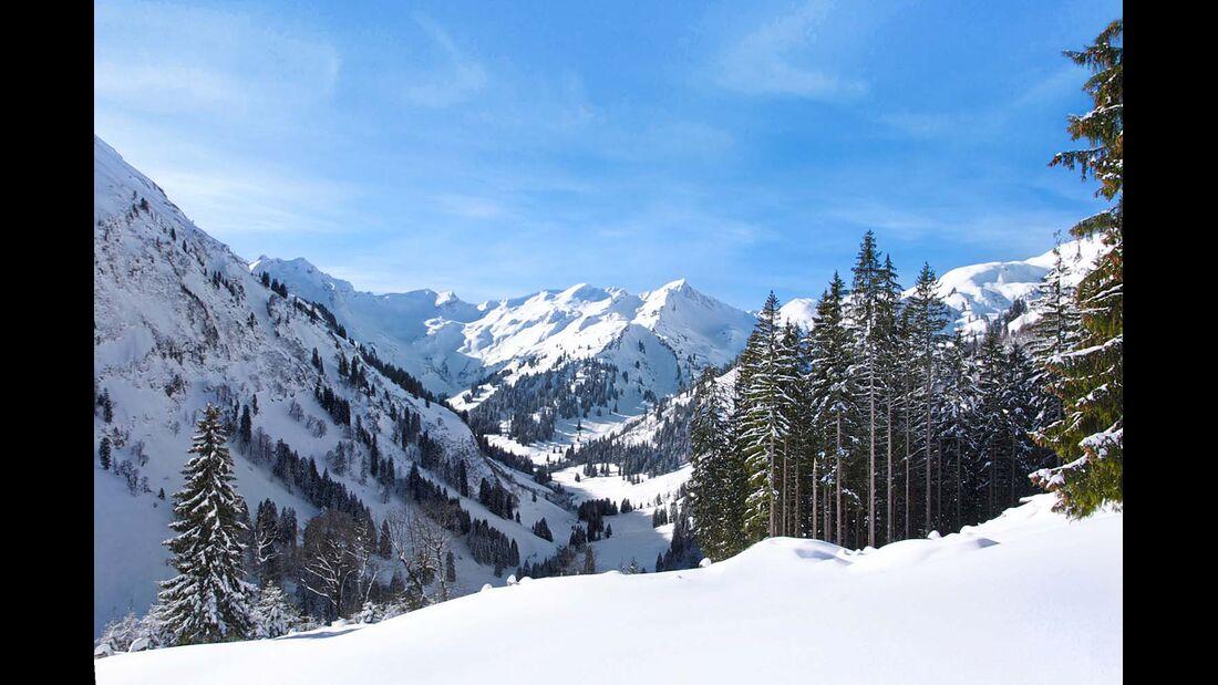 Bergpanorama in den Allgäuer Alpen
