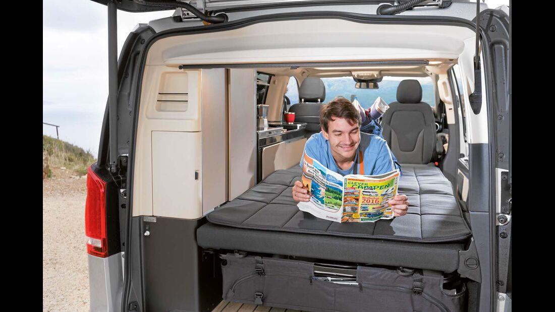 Bett beim Mercedes Marco Polo