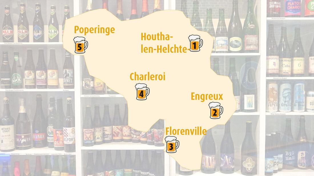 Bier-Tour mit dem Wohnmobil: 5 Brauerei Stopps in Belgien.