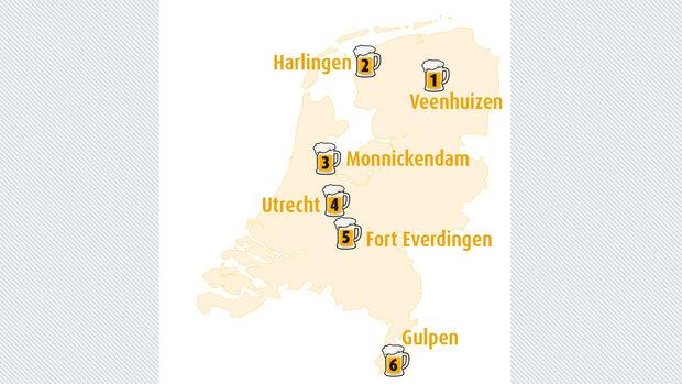 Biertour  durch die Niederlande