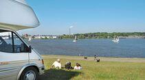 Blick auf die Weser nahe Lemwereder
