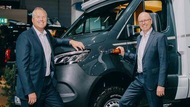 Bob Martin, CEO Thor Industries, Martin Brand, Geschäftsführer Erwin-Hymer-Group