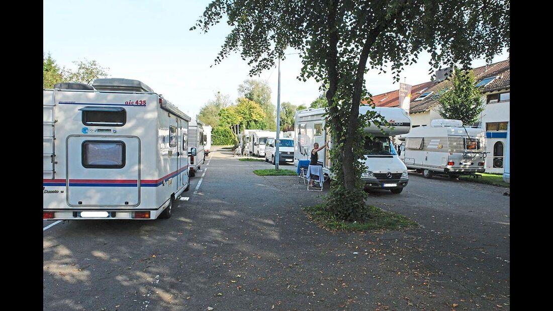 Bodensee Friedrichshafen der Stellplatz in der Lindauer Straße