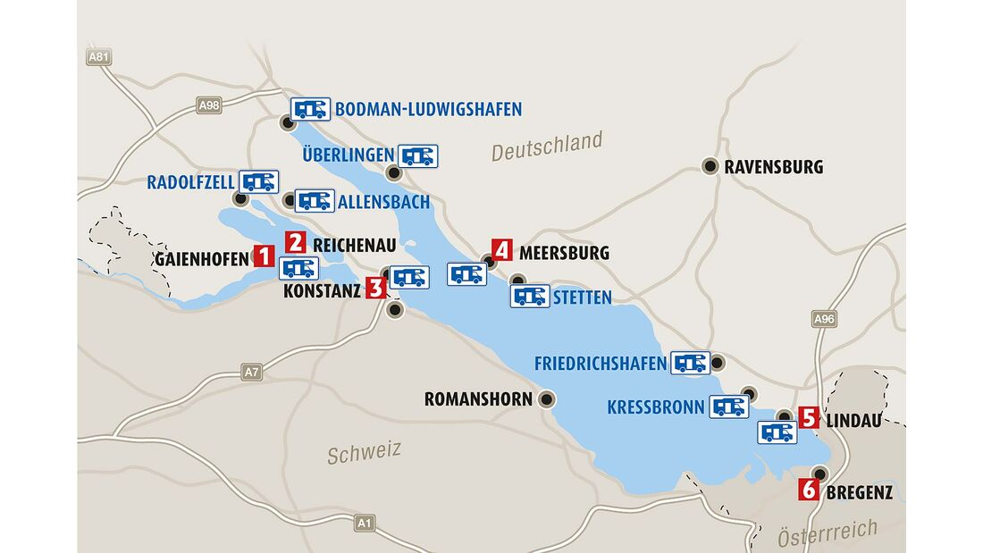 Bodensee - die Region im Überblick