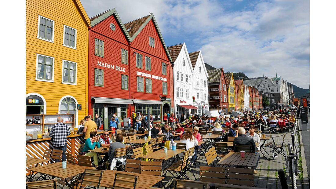 Bryggen-Viertel Bergen Norwegen