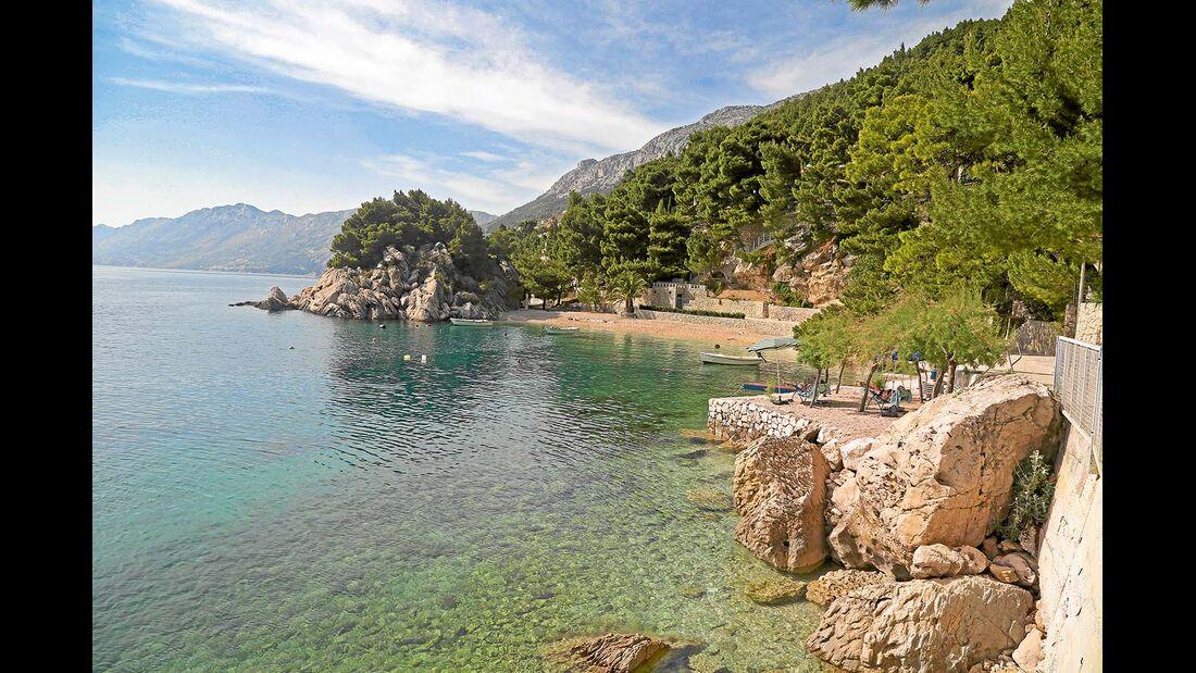 Buchten und Badestrand in Dalmatien