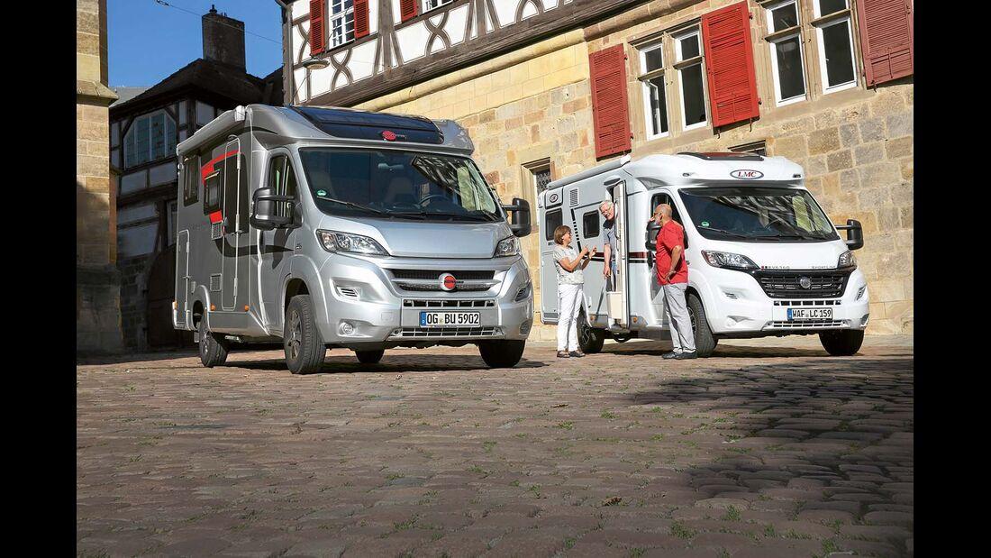 Bürstner Travel Van t 590 G und LMC Breezer V 636 G