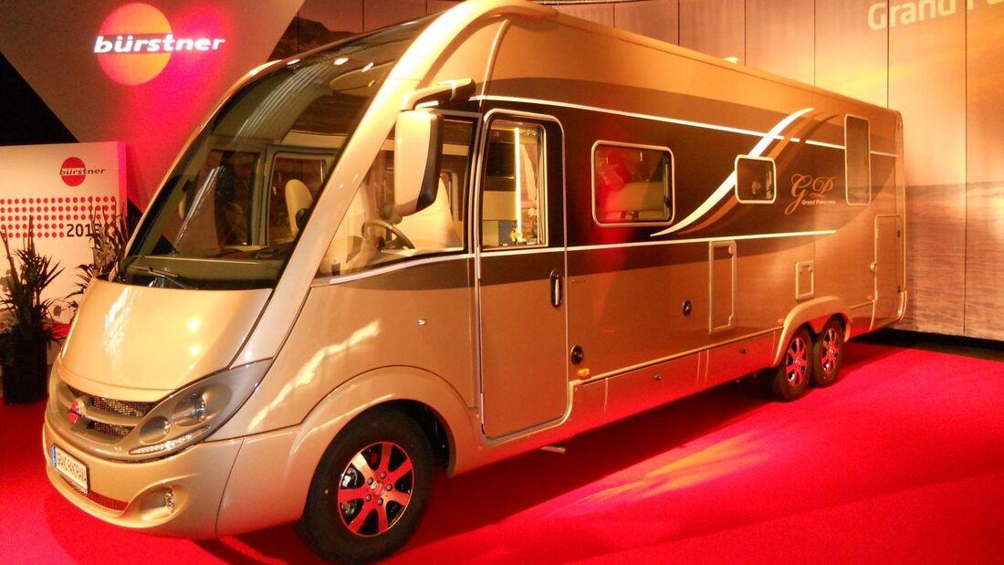 Bürstner startet mit dem neuen Brevio auf Fiat Ducato-Basis und dem vollintegrierten Grand-Panorama ins Modelljahr 2013.